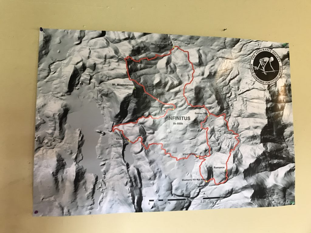 100 Mile Run: Trail Map