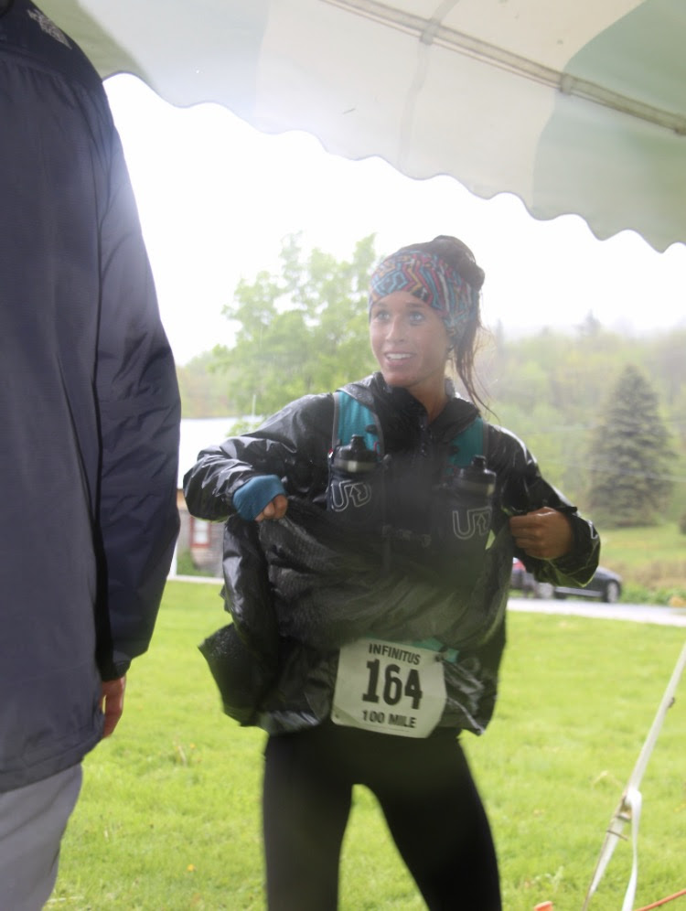 Crystal at the 100 mile race