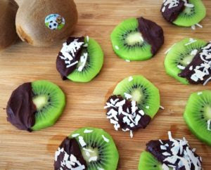 Chocolate Covered Kiwi Bites