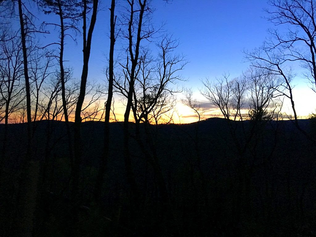 The horizon at sunset at the Georgia Death Race