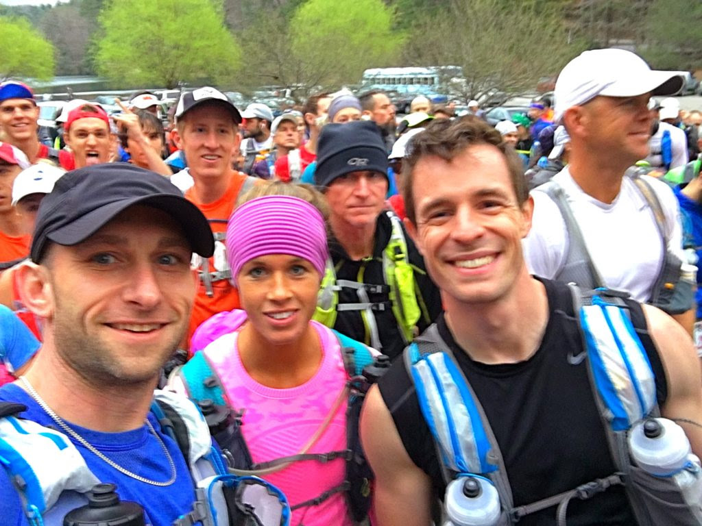 Crystal, Jesse and friends at the start of the Georgia Death Race