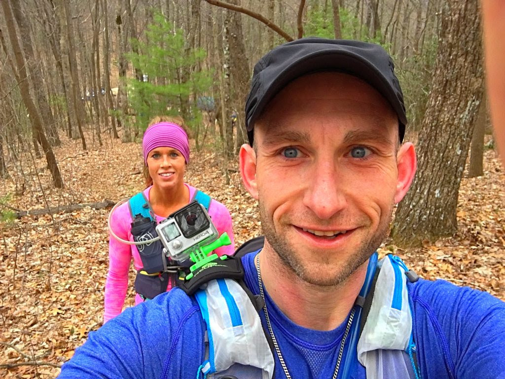 Jesse and Crystal on the Georgia Death Race trail